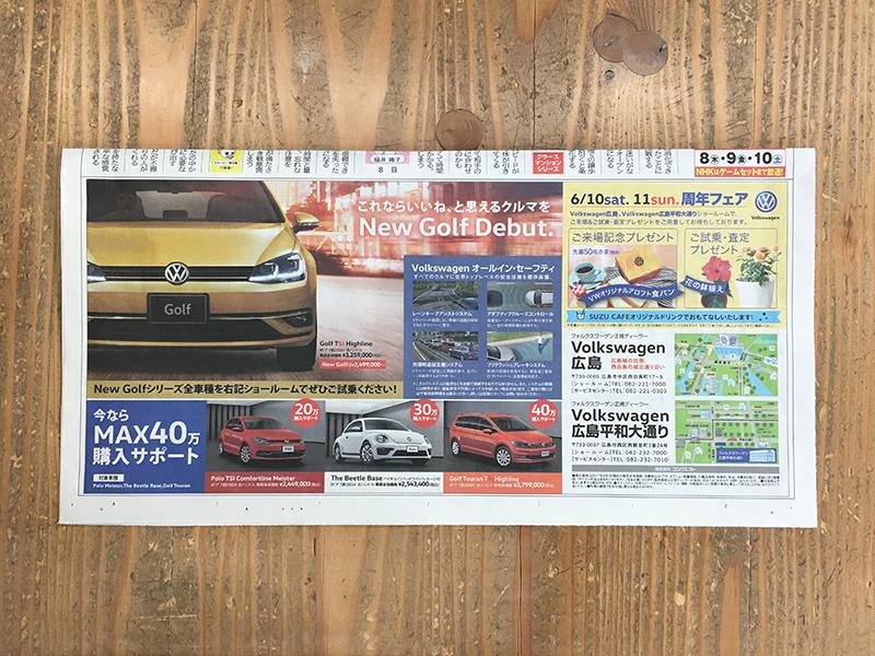 新聞広告 全5段 2017年6月掲載